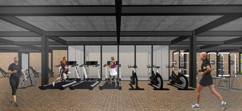 Foto inspirasi ide desain gym minimalis Scene-8-fix oleh Km0Studio di Arsitag