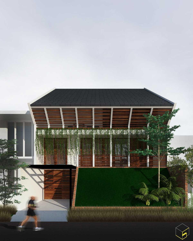 Sekala Tropical House Surabaya, Kota Sby, Jawa Timur, Indonesia Surabaya, Kota Sby, Jawa Timur, Indonesia Front View Rendering Tropical,tropis 39583