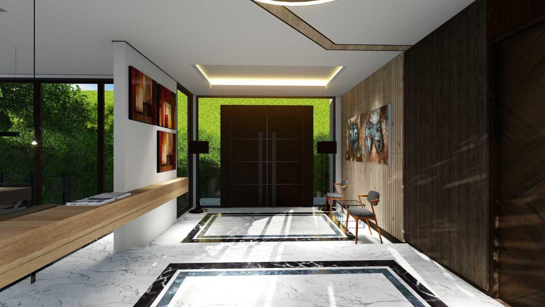 Foto inspirasi ide desain pintu masuk tropis Back door oleh Samitrayasa Design di Arsitag