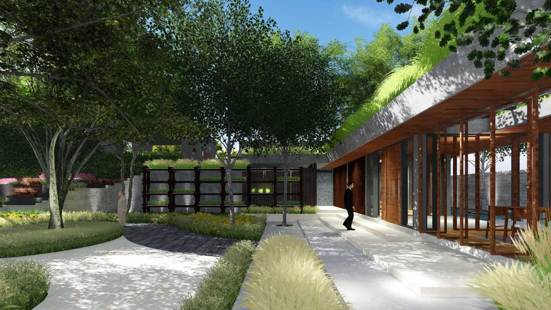 Foto inspirasi ide desain pintu masuk tropis Entrance oleh Samitrayasa Design di Arsitag