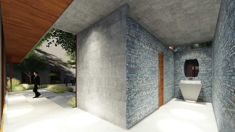 Foto inspirasi ide desain kamar mandi tropis Toilet oleh Samitrayasa Design di Arsitag