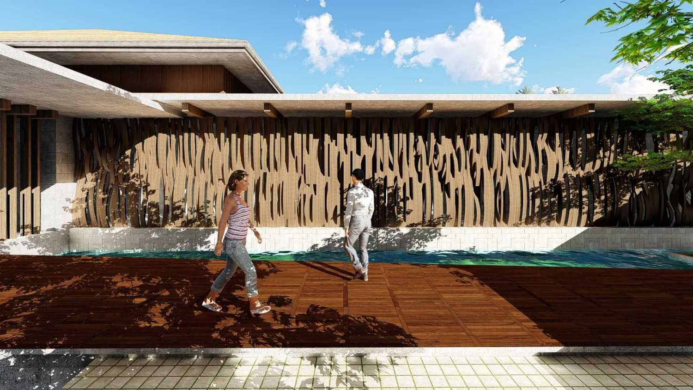Foto inspirasi ide desain koridor dan lorong tropis Outdoor corridor oleh Samitrayasa Design di Arsitag