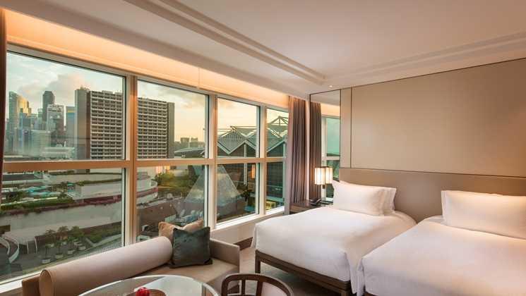 Studio Dinding Conrad Singapura Singapura Twin Bed Room Kontemporer 39637