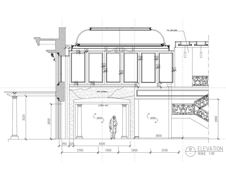 A N J A R S I T E K Classical House - Renon / Denpasar - Bali Renon, South Denpasar, Denpasar City, Bali, Indonesia Renon, South Denpasar, Denpasar City, Bali, Indonesia Section-Drawing-2 Klasik 36080