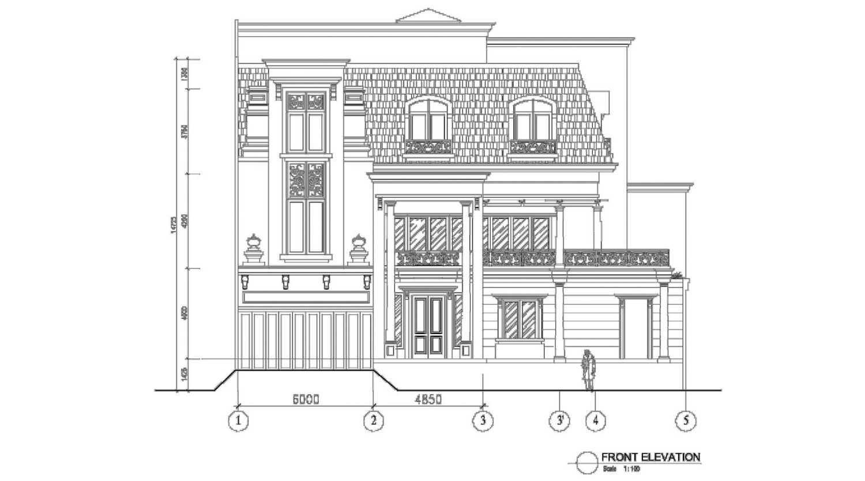 A N J A R S I T E K Modern Collonial House Kelapa Gading, North Jakarta City, Jakarta, Indonesia Kelapa Gading, North Jakarta City, Jakarta, Indonesia 4 Modern 36206