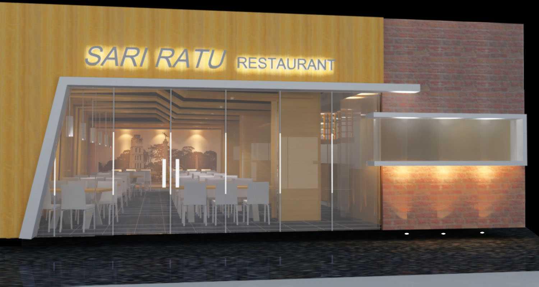 Foto inspirasi ide desain restoran asian Front view rendering oleh A N J A R S I T E K di Arsitag