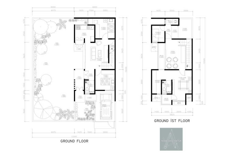 Kedai.arsitektur House In Cilebut Jl. Pendidikan 2, Cilebut, Cilebut Bar., Sukaraja, Bogor, Jawa Barat 16157, Indonesia  1  35960