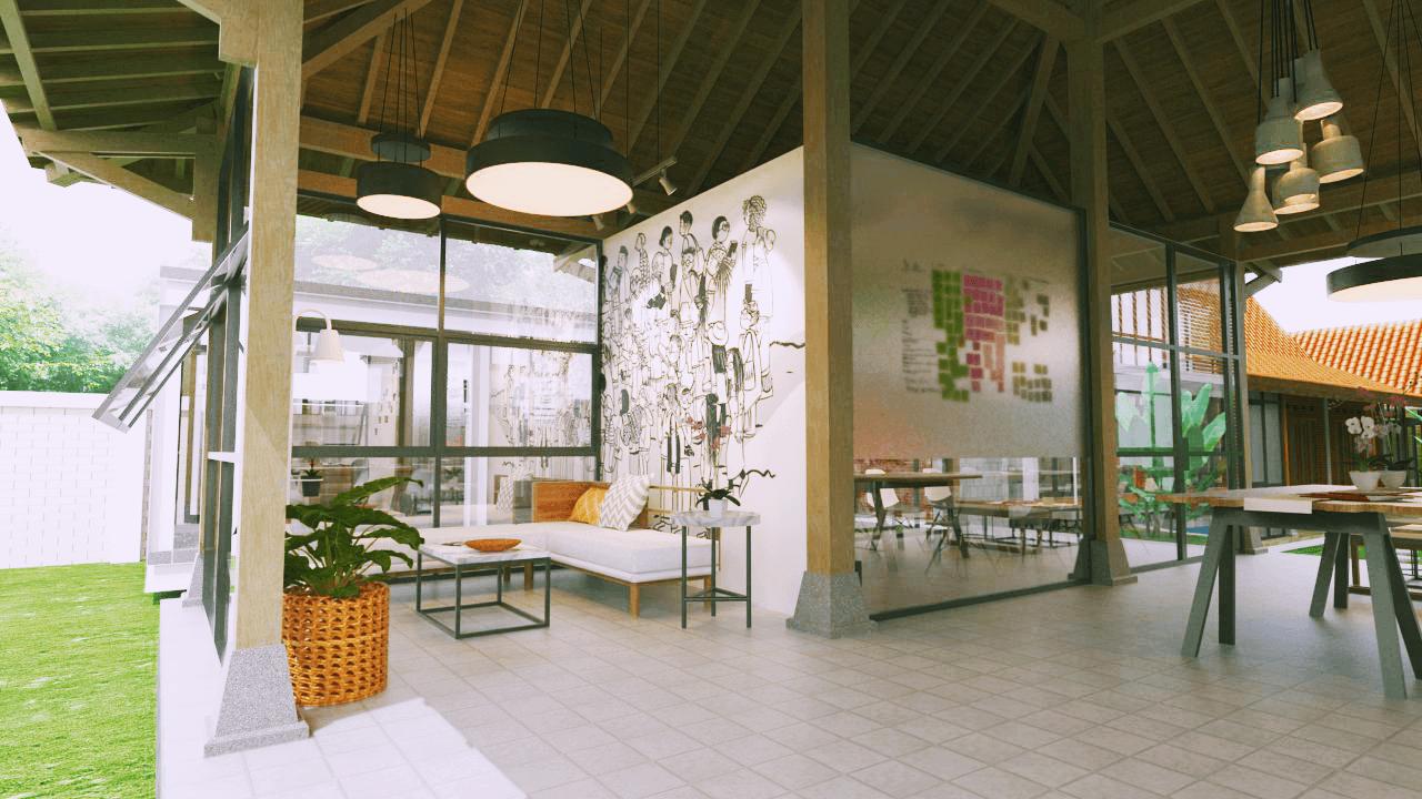Foto inspirasi ide desain lobby tradisional Lobby2 oleh D4 Studio di Arsitag