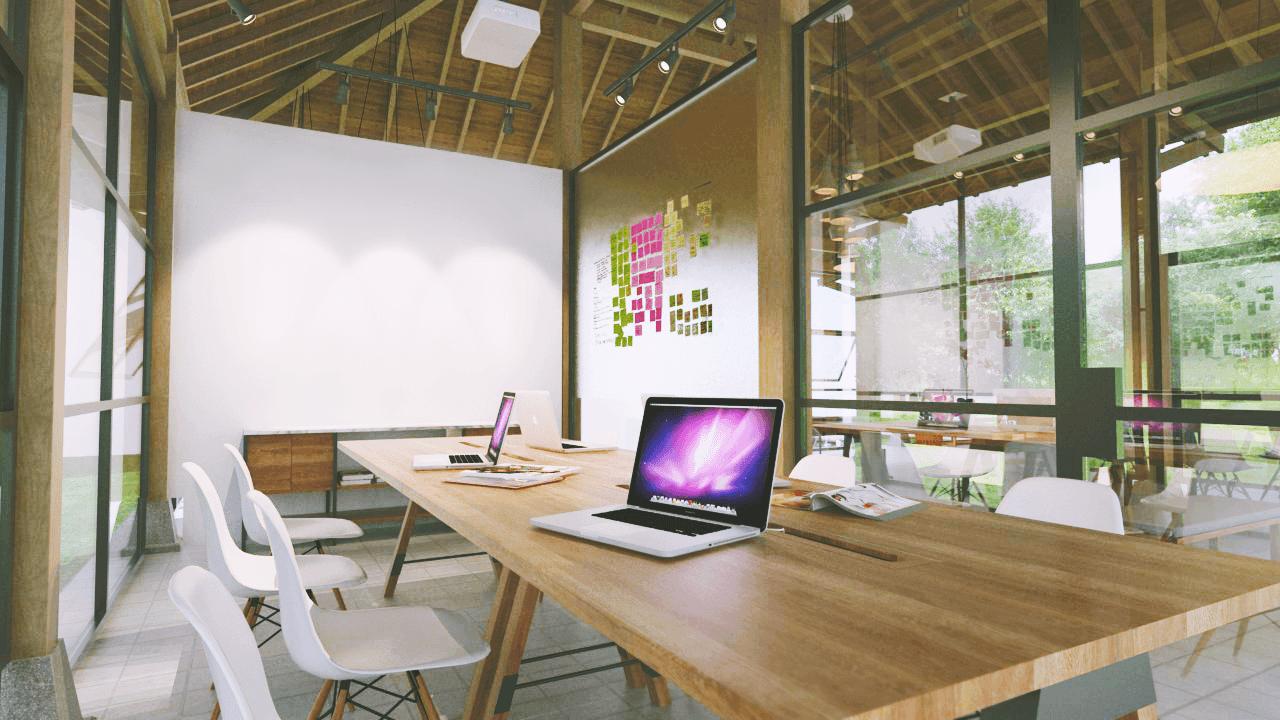 Foto inspirasi ide desain ruang meeting tradisional Meeting-room oleh D4 Studio di Arsitag