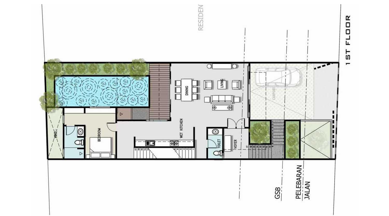 Zigzag Architecture Studio F House Kemang - Pedurenan Daerah Khusus Ibukota Jakarta, Indonesia Daerah Khusus Ibukota Jakarta, Indonesia 1  37008