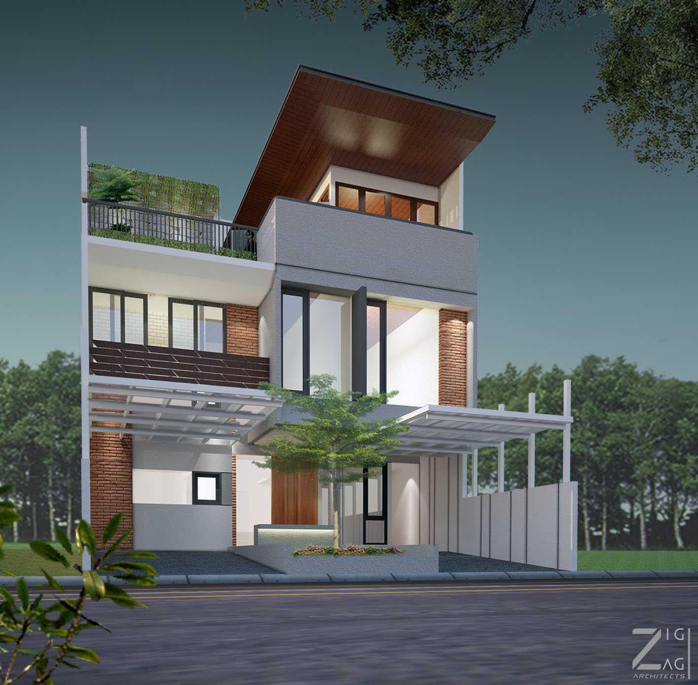 Zigzag Architecture Studio Pulomas House Daerah Khusus Ibukota Jakarta, Indonesia  04-1  37597