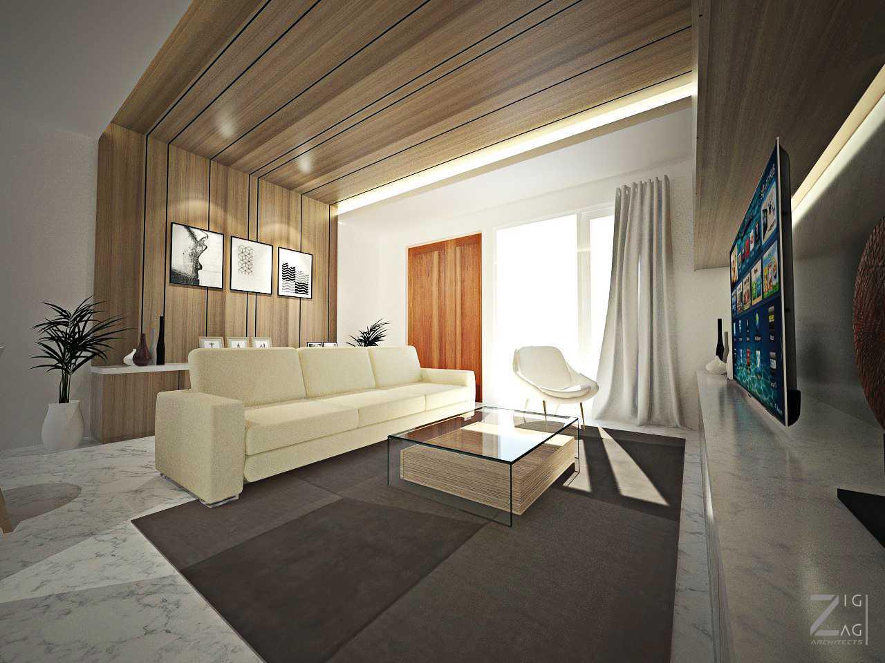 Zigzag Architecture Studio Box House  Ciledug, Kota Tangerang, Banten, Indonesia Ciledug, Kota Tangerang, Banten, Indonesia Family Room Kontemporer 41122