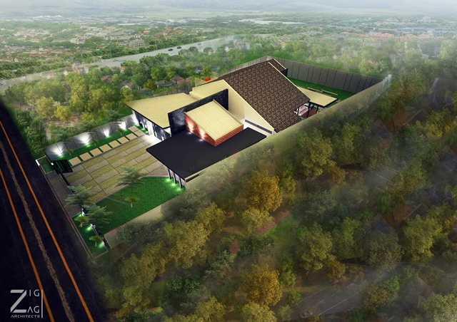 Zigzag Architecture Studio D House - Pekanbaru Pekanbaru, Kota Pekanbaru, Riau, Indonesia Pekanbaru, Kota Pekanbaru, Riau, Indonesia D House Pekanbaru - Exterior Tropical 45566