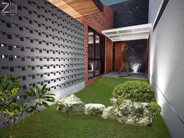 Zigzag Architecture Studio D House - Pekanbaru Pekanbaru, Kota Pekanbaru, Riau, Indonesia Pekanbaru, Kota Pekanbaru, Riau, Indonesia D House Pekanbaru - Garden Tropis 45567
