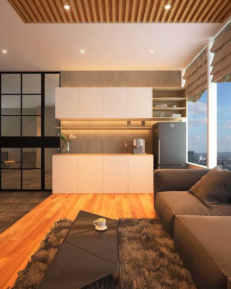 Foto inspirasi ide desain kantor skandinavia Pantry oleh KOEN Design di Arsitag