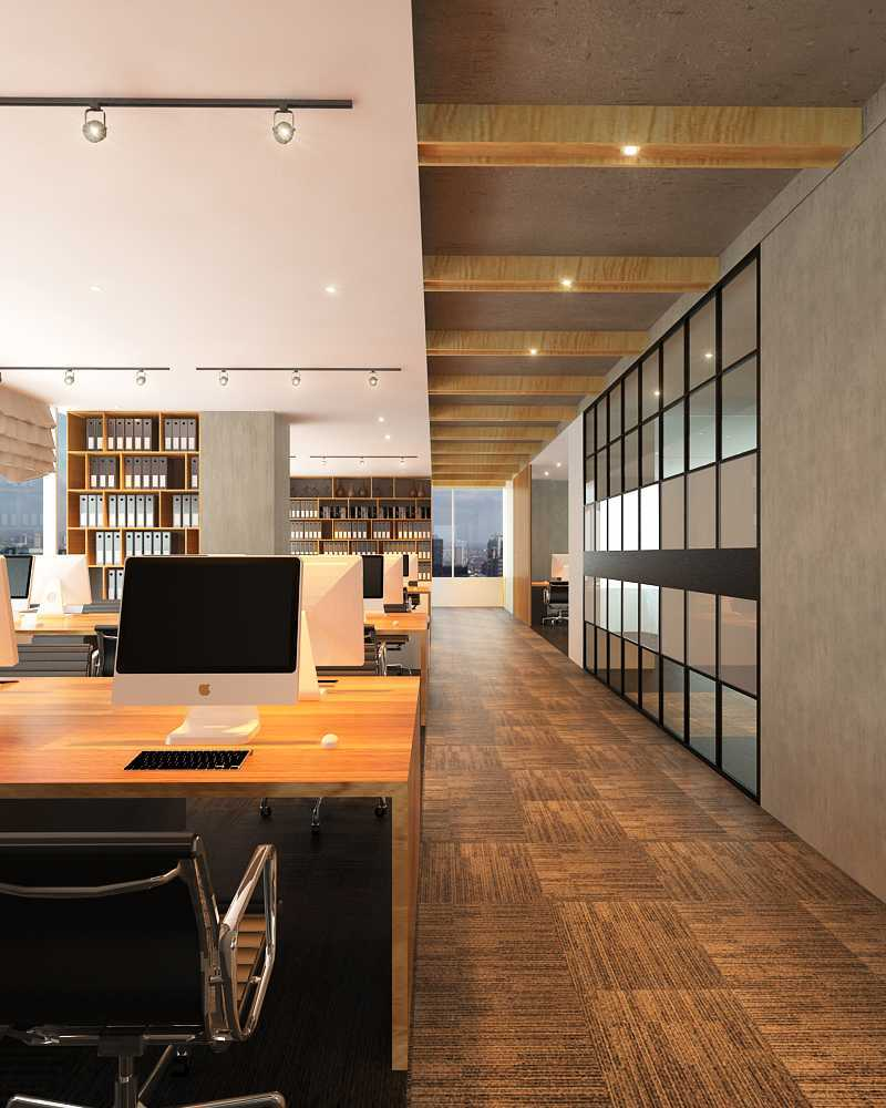Foto inspirasi ide desain ruang kerja skandinavia Working area oleh KOEN Design di Arsitag