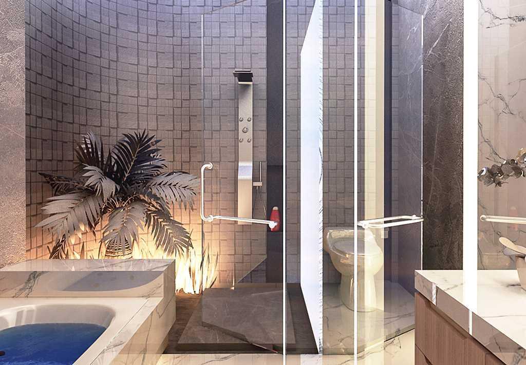 Vicasso Interior Jade House Tangerang, Kota Tangerang, Banten, Indonesia Tangerang, Kota Tangerang, Banten, Indonesia Bathroom Contemporary,kontemporer 38493