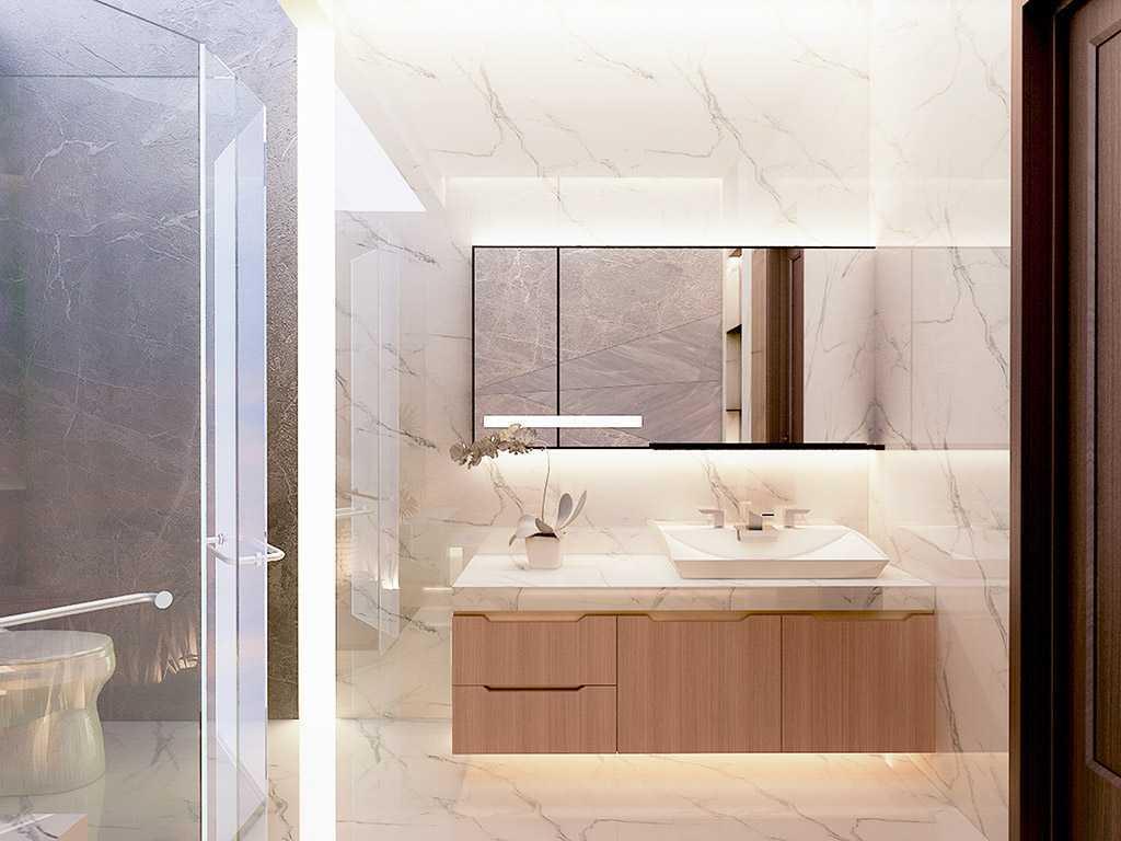 Vicasso Interior Jade House Tangerang, Kota Tangerang, Banten, Indonesia Tangerang, Kota Tangerang, Banten, Indonesia Bathroom Contemporary,kontemporer 38502