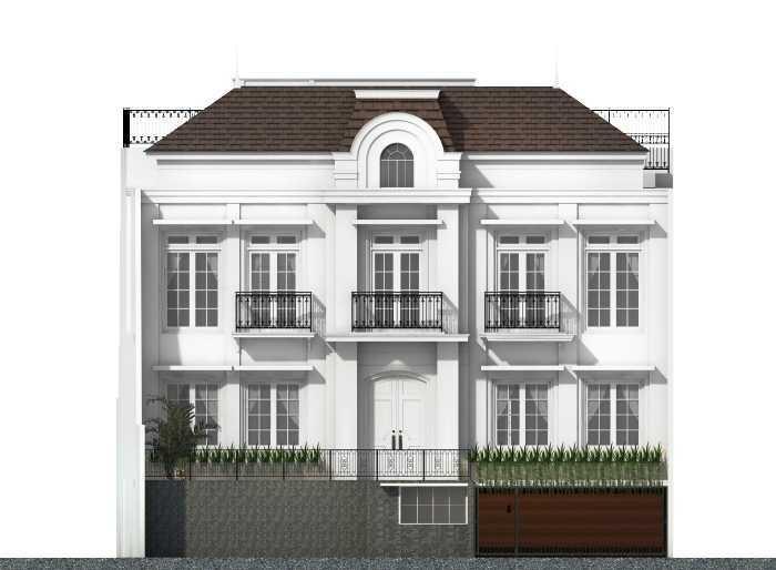 Foto inspirasi ide desain pintu masuk klasik Front view oleh Vastu Cipta Persada di Arsitag