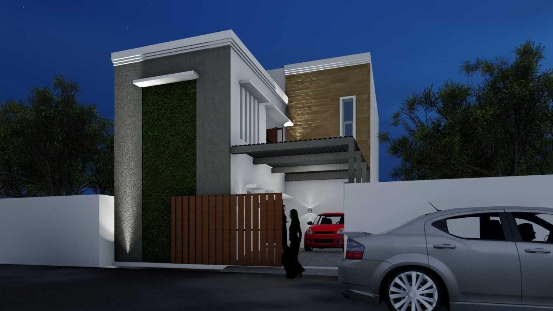 Mannor Architect Rumah Kos Depok Depok, Kota Depok, Jawa Barat, Indonesia Depok, Kota Depok, Jawa Barat, Indonesia Facade Nignt View Minimalist 40742