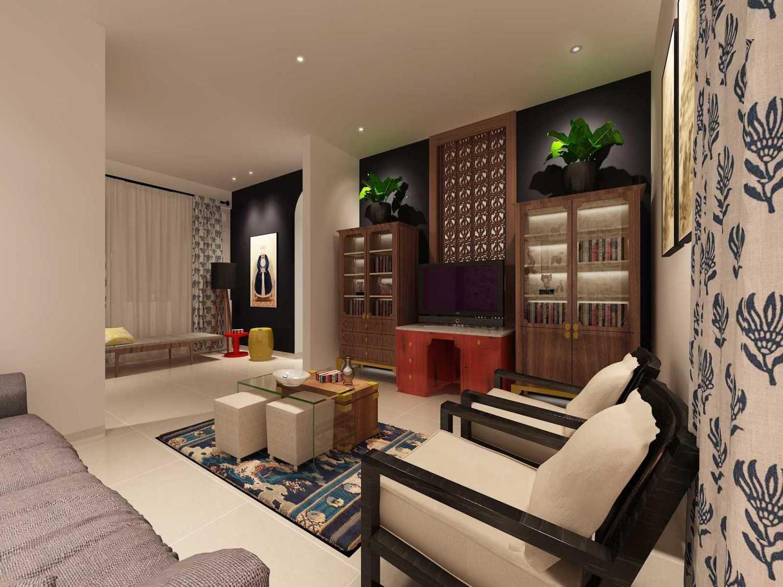 Foto inspirasi ide desain eklektik Living room oleh Koerie Design di Arsitag