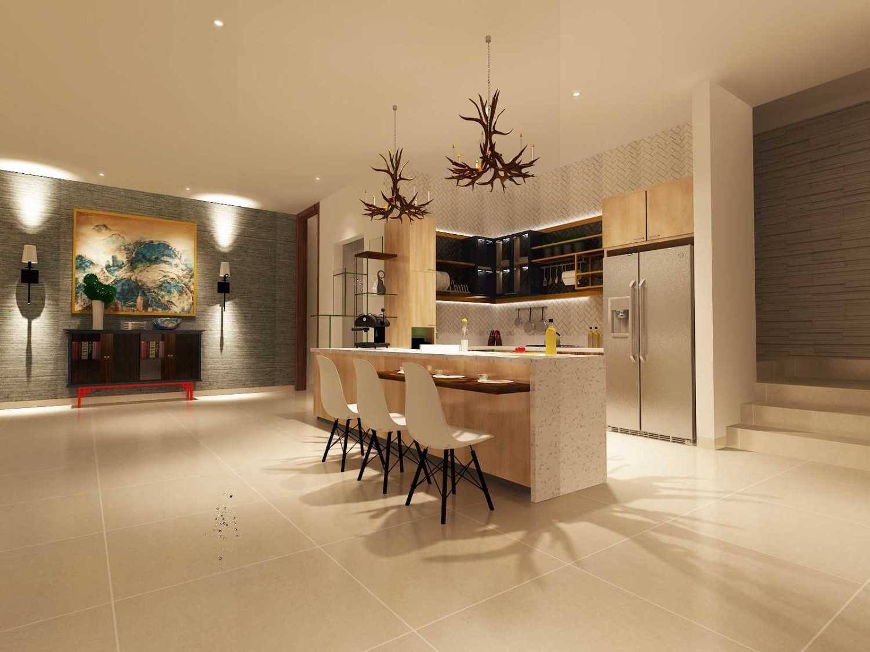 Foto inspirasi ide desain ruang makan eklektik Dining area oleh Koerie Design di Arsitag