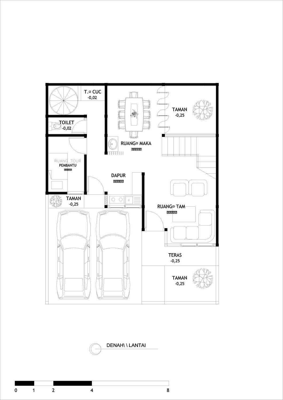 Adefa Studio Ab House Kota Yogyakarta, Daerah Istimewa Yogyakarta, Indonesia Kota Yogyakarta, Daerah Istimewa Yogyakarta, Indonesia Floorplan 1St Floor Kontemporer 41023