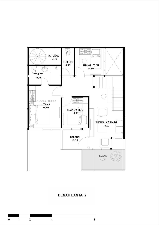Adefa Studio Ab House Kota Yogyakarta, Daerah Istimewa Yogyakarta, Indonesia Kota Yogyakarta, Daerah Istimewa Yogyakarta, Indonesia Floorplan 2Nd Floor Kontemporer 41024