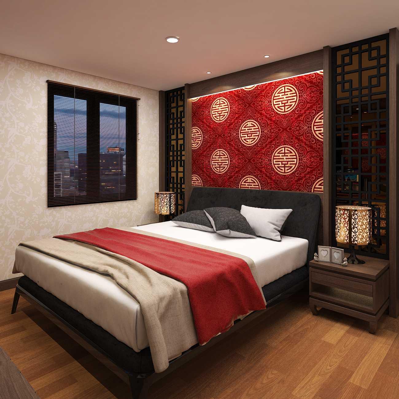 Foto inspirasi ide desain kamar tidur asian Asian house hegarmanah - bedroom oleh D-CreArt Design di Arsitag