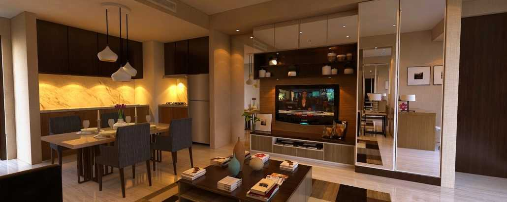 Vh Interior U Residence Karawaci, Kota Tangerang, Banten, Indonesia Karawaci, Kota Tangerang, Banten, Indonesia Living & Dining Room Minimalis 42285