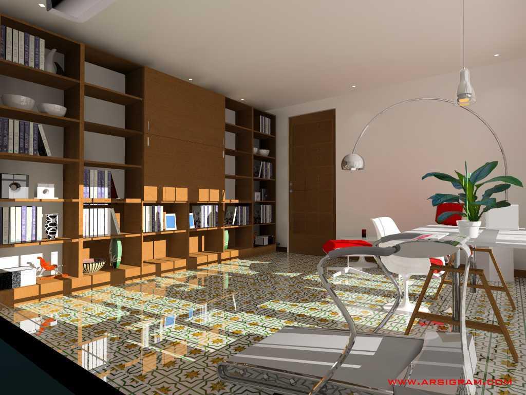 Foto inspirasi ide desain ruang belajar kontemporer Study room oleh Arsigram di Arsitag