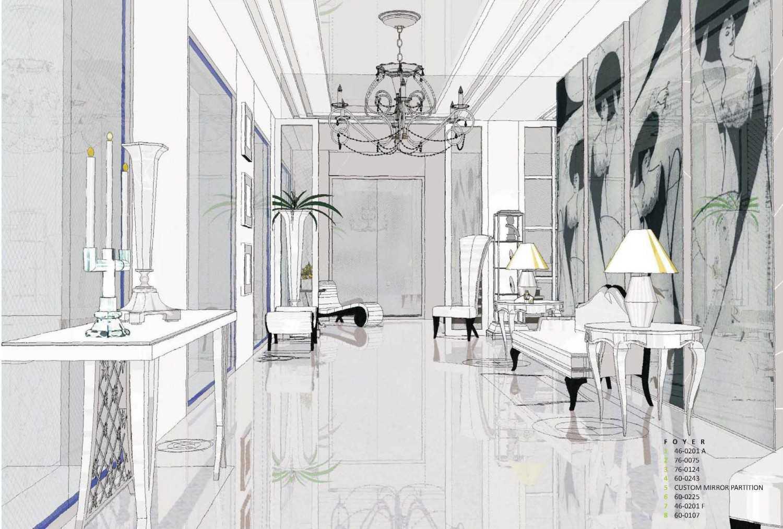 Foto inspirasi ide desain pintu masuk klasik Interior view oleh Arsigram di Arsitag