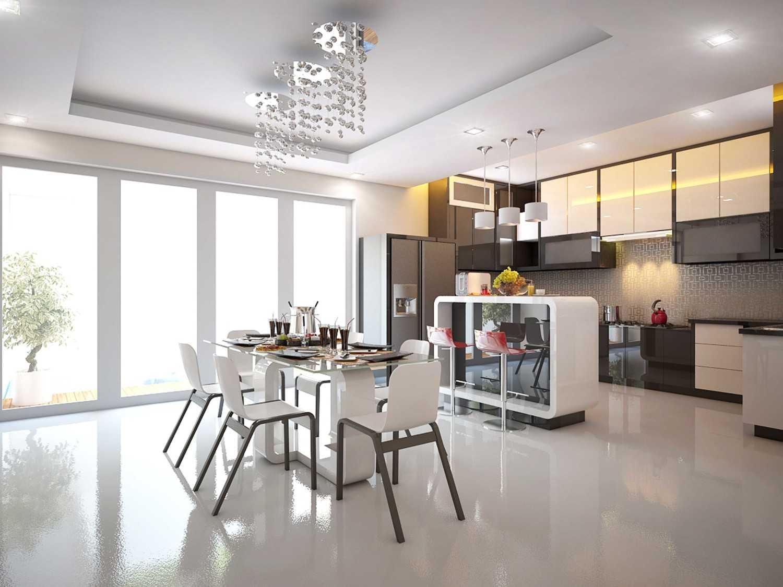 A2M Architect Indo S House Kota Makassar, Sulawesi Selatan, Indonesia Kota Makassar, Sulawesi Selatan, Indonesia Kitchen & Dining Room Modern 43623