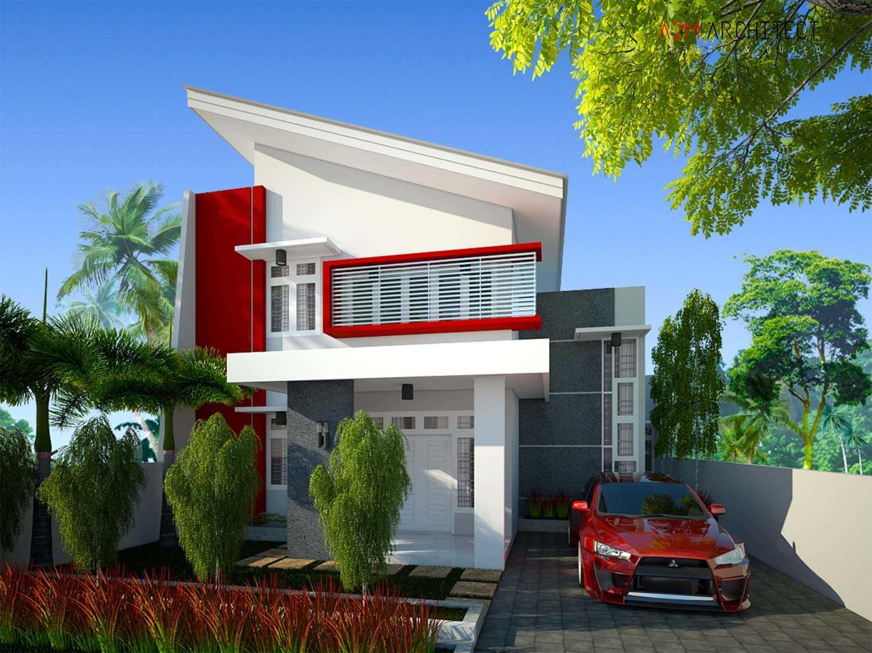 A2M Architect Indo H R House Kota Makassar, Sulawesi Selatan, Indonesia Kota Makassar, Sulawesi Selatan, Indonesia Facade View Kontemporer 46516