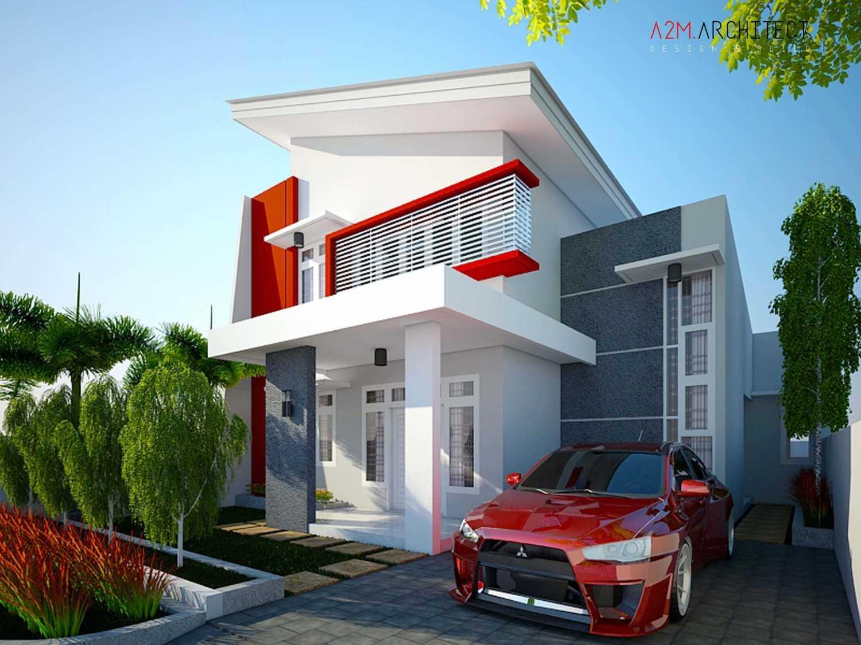 A2M Architect Indo H R House Kota Makassar, Sulawesi Selatan, Indonesia Kota Makassar, Sulawesi Selatan, Indonesia Exterior View Kontemporer 46517