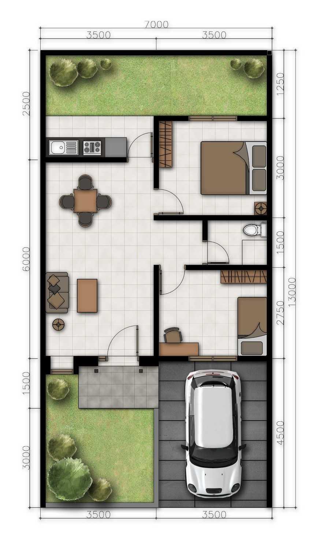 Delyuzir Architects Ayani Residence - Rangkasbitung Rangkasbitung, Kabupaten Lebak, Banten, Indonesia Rangkasbitung, Kabupaten Lebak, Banten, Indonesia Floorplan  46219