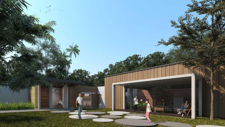 Sony Budiono & Partner Architect Firm Villa Utama  Pulau Putri, Indonesia Pulau Putri, Indonesia Courtyard  42923