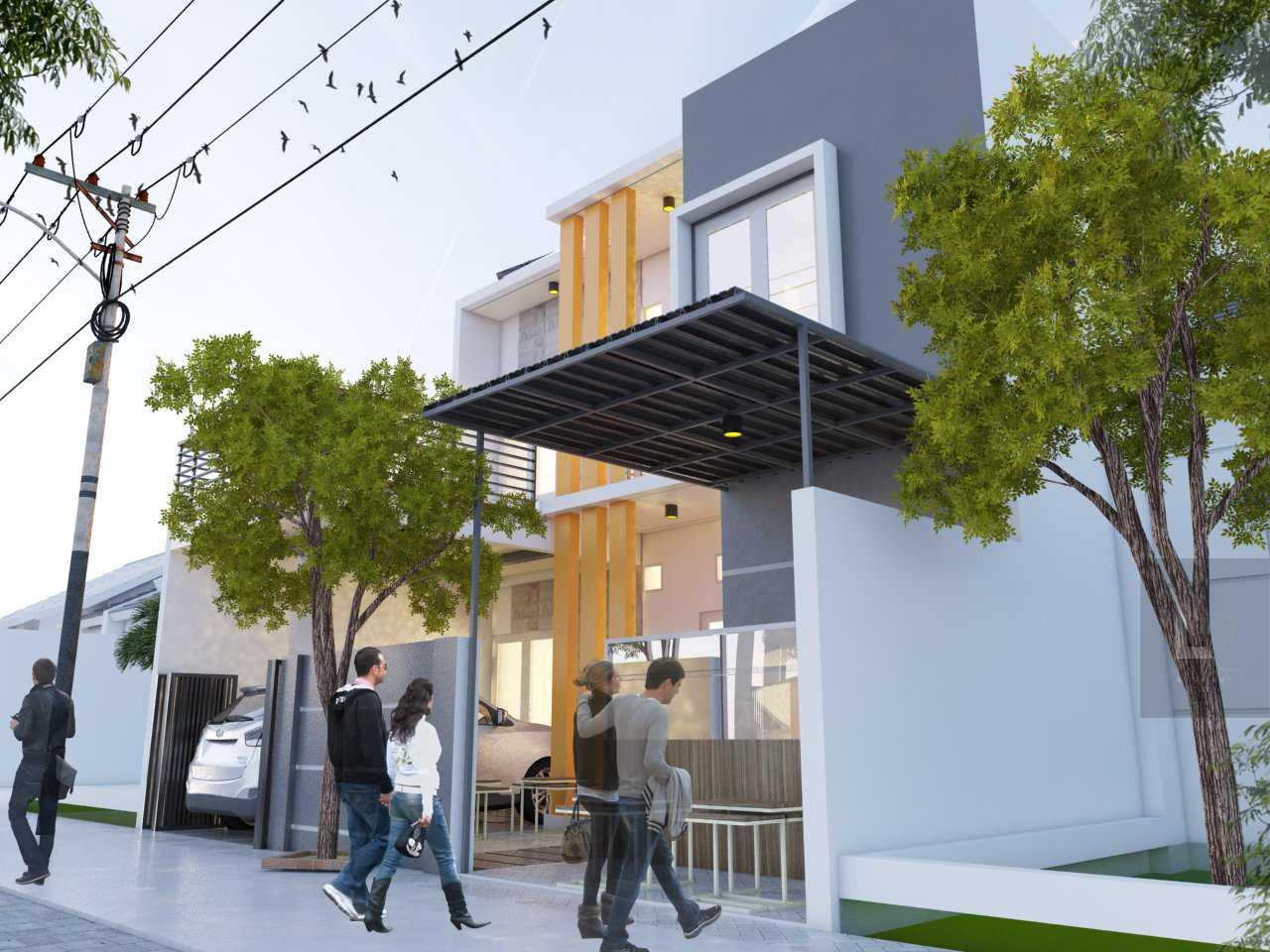 Arz Studio Desain Rumah Renovasi Di Malang Landungsari, Dau, Malang, Jawa Timur, Indonesia Landungsari, Dau, Malang, Jawa Timur, Indonesia Exterior View Minimalis 42709