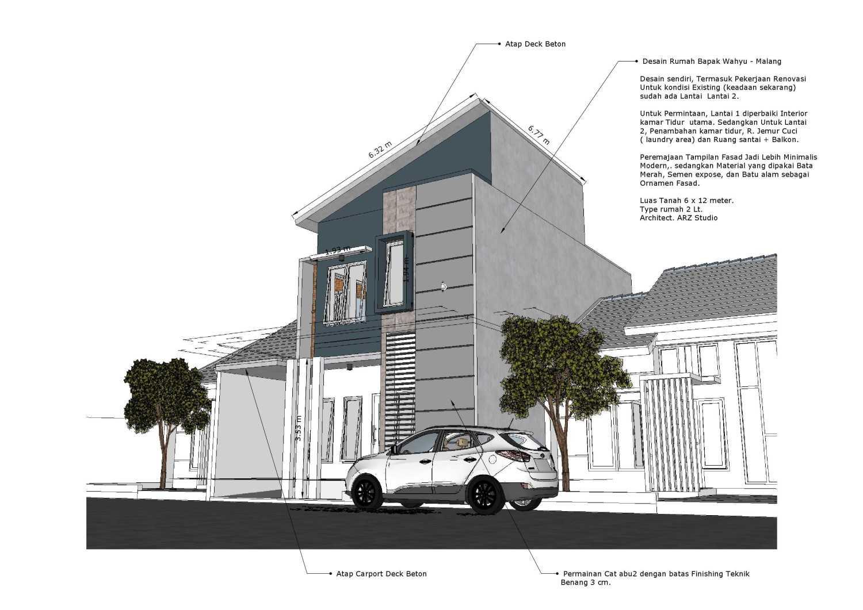 Arz Studio Desain Renovasi Rumah 2 Lt. Malang, Kota Malang, Jawa Timur, Indonesia Malang, Kota Malang, Jawa Timur, Indonesia Prespektif  45336