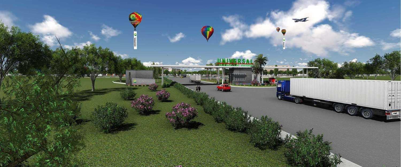 """Sigmat Estetika Art Impression """"universal Industrial Estate"""" Kabupaten Subang, Jawa Barat, Indonesia Kabupaten Subang, Jawa Barat, Indonesia Entrance Gate Modern 43091"""