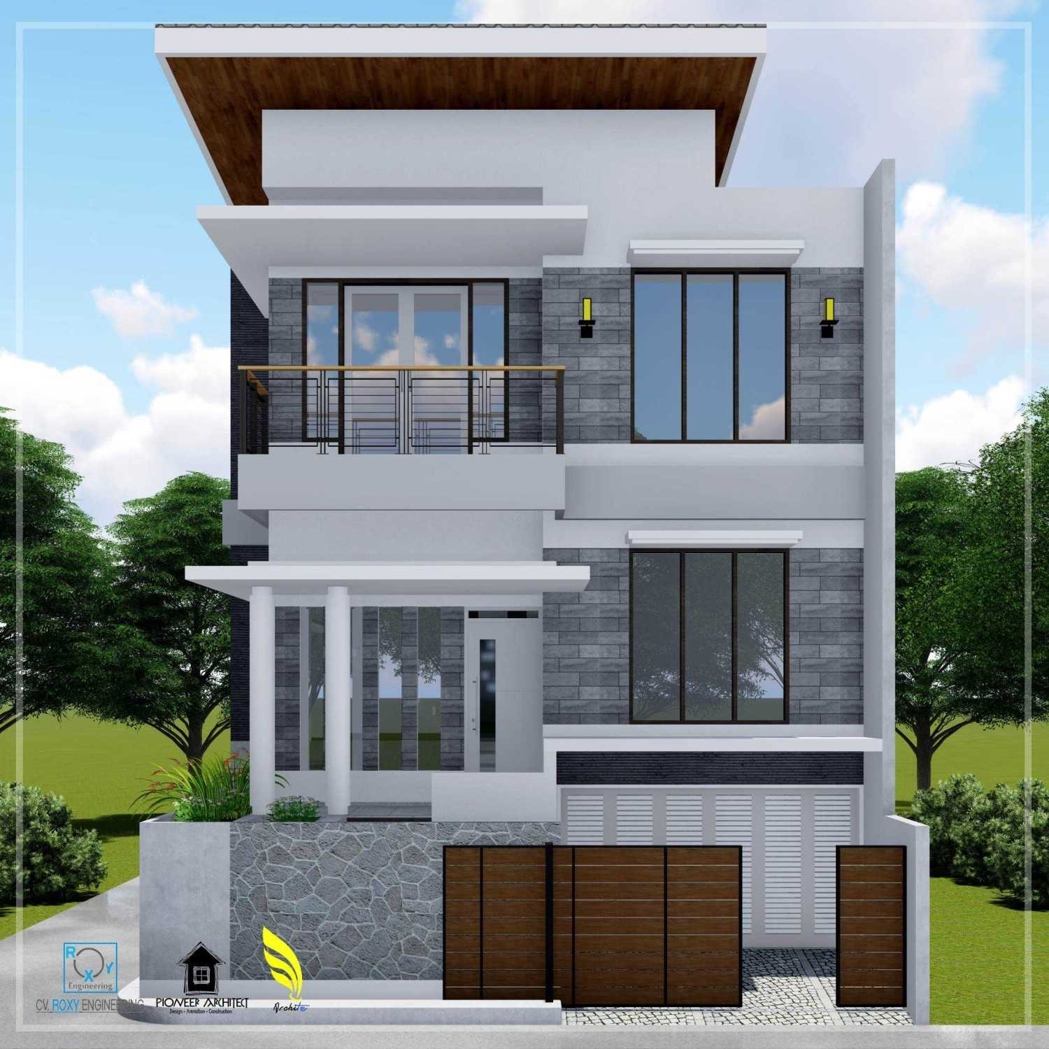 Pionner Architect N House Lhokseumawe, Kota Lhokseumawe, Aceh, Indonesia Lhokseumawe, Kota Lhokseumawe, Aceh, Indonesia Front View Modern 43257