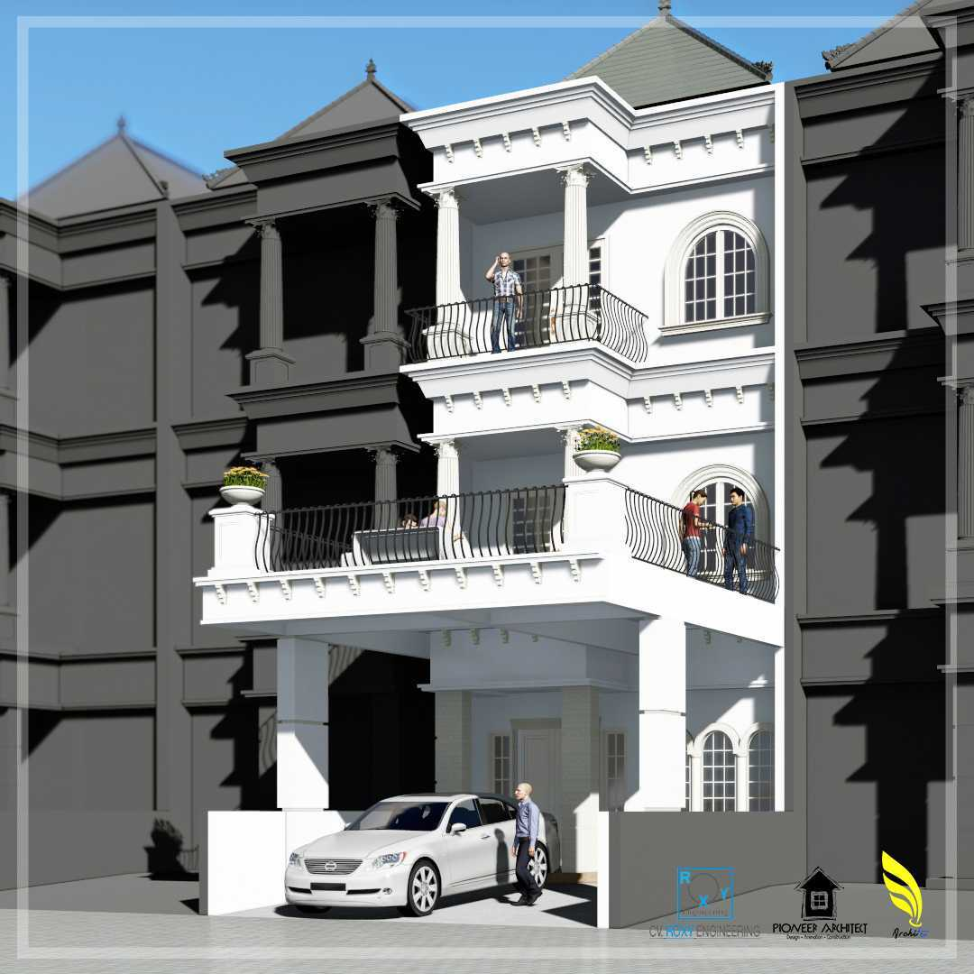 Pionner Architect Piazza House Renovation Kota Medan, Sumatera Utara, Indonesia Kota Medan, Sumatera Utara, Indonesia Facade View  43297