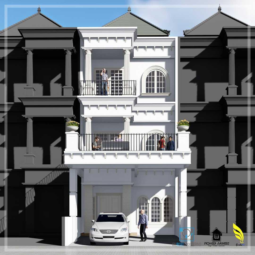 Pionner Architect Piazza House Renovation Kota Medan, Sumatera Utara, Indonesia Kota Medan, Sumatera Utara, Indonesia Front View Rendering  43298