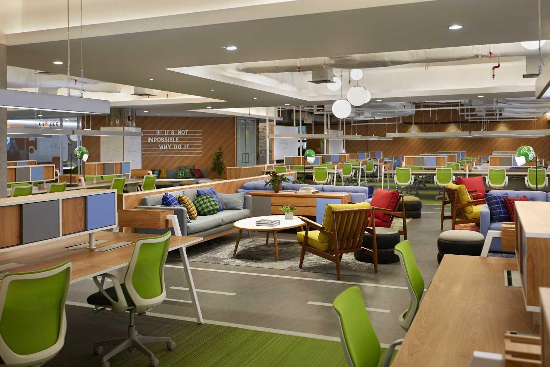 Desain interior kantor Gojek