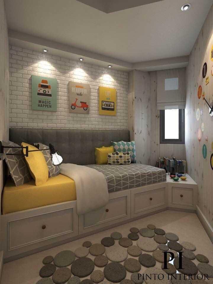 Foto inspirasi ide desain ruang belajar kontemporer Study room oleh Pinto Interior di Arsitag