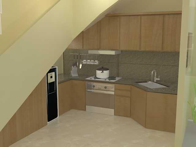 Foto inspirasi ide desain dapur kontemporer Kitchen view oleh ARCH.co di Arsitag