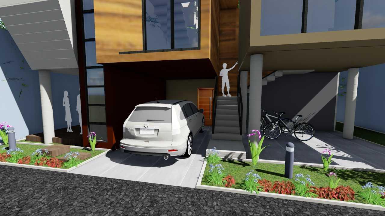 Foto inspirasi ide desain garasi modern Garage oleh Sevi Edelweis di Arsitag