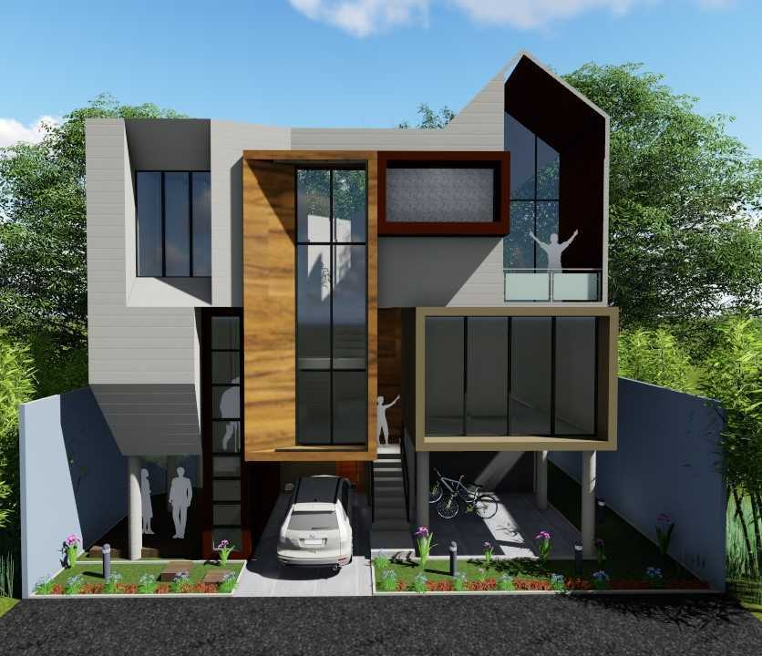 Sevi Edelweis Split House Lampung, Indonesia Lampung, Indonesia Front View Rendering  44875