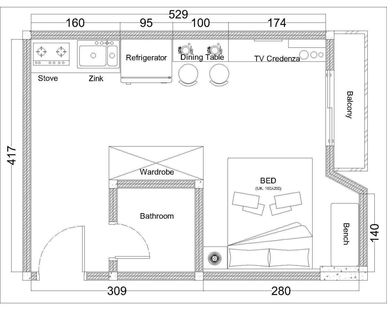 Interiaku Apartment Niffaro Daerah Khusus Ibukota Jakarta, Indonesia Daerah Khusus Ibukota Jakarta, Indonesia Layout  45250