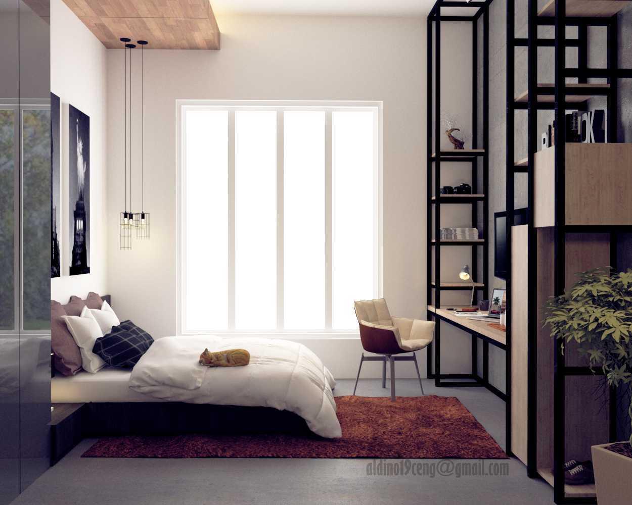 Foto inspirasi ide desain apartemen industrial Bedroom apartement oleh Andi Fauzy Aldino di Arsitag